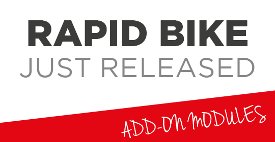 Rapid BIKE JUST RELEASED: nuove applicazioni disponibili
