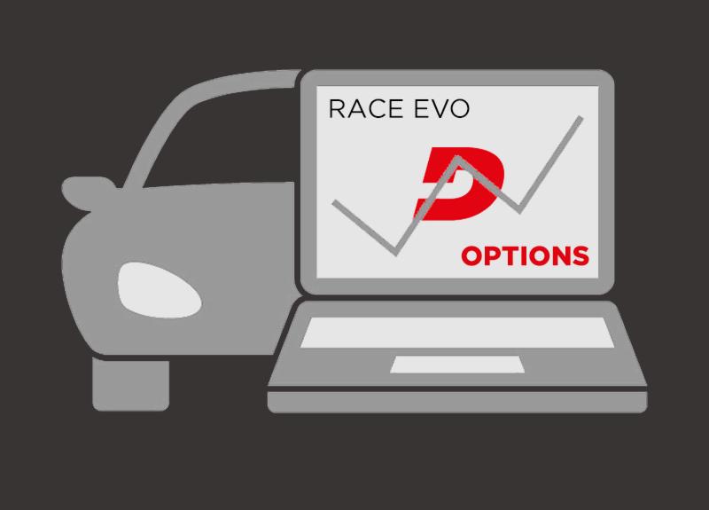 As 'Options' do Race Evo
